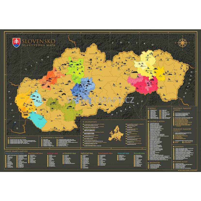 Stiraci Mapa Slovenska Mapa V Darkovem Tubusu